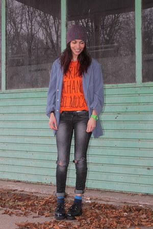 vintage t-shirt - Underground shoes - Gstar jeans