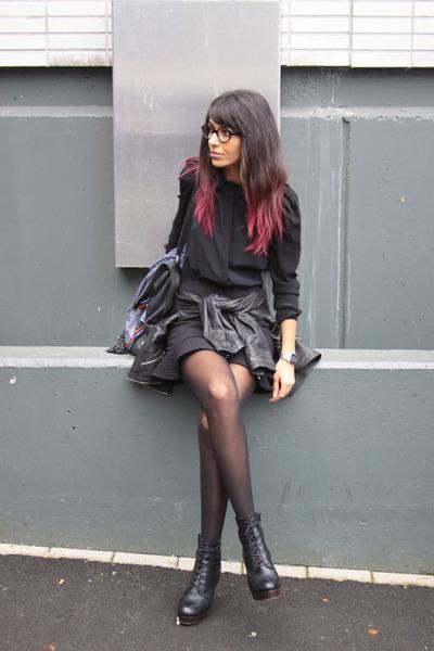 Maje dress - karen millen jacket - sabrina tach bag - Jeffrey Campbell heels