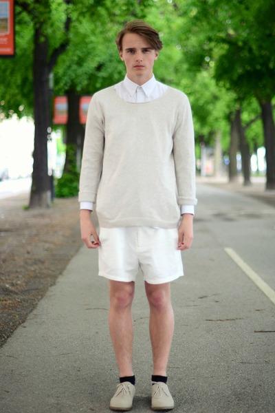 H&M shoes - Topman sweater - solo shirt - weekday shorts