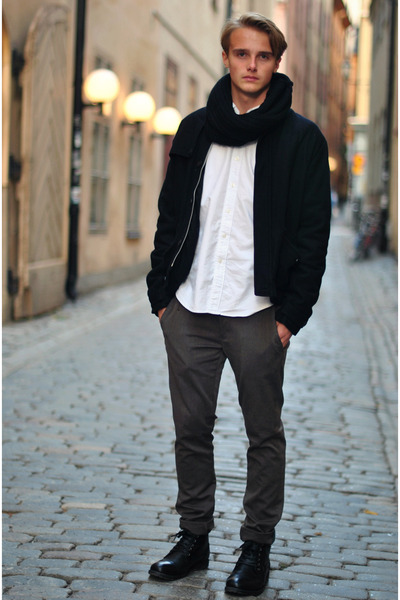 Din Sko boots - weekday jacket - Made in the Shade shirt - Zara pants