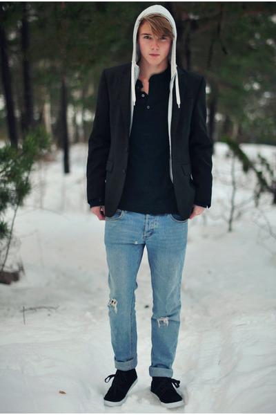 Cheap Monday jeans - Bläck blazer - Zara hoodie - H&M t-shirt
