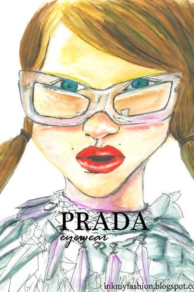 white Prada glasses