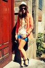 Dip-dye-h-m-shorts-strappy-zara-pumps