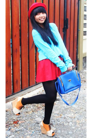 wol hat - Zara sweater - Prada bag - MOZA wedges
