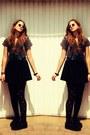Black-h-m-shoes-black-doted-h-m-tights-black-h-m-skirt