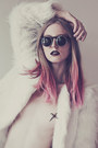 Bubble-gum-color-bug-kevin-murphy-accessories-white-faux-fur-romwe-coat
