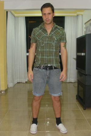 green Renner shirt - brown TNG shorts - white Mad Rats shoes - black Alexandre H