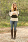Clarks-boots-lucky-brand-jeans-gap-sweater