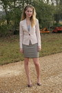 Black-madewell-skirt-light-pink-posh-boutique-blazer