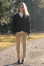 White-levis-shirt-light-brown-j-crew-pants-navy-us-navy-vintage-hoodie