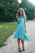 turquoise blue Forever21 dress - teal Nine West sandals