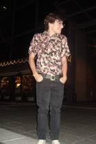 Cheap Monday jeans - AYNot Dead shirt - Converse shoes - vintage belt