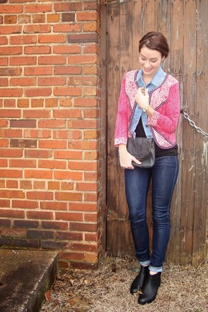 Old Navy vest - KorkEase boots - MOTHER Denim jeans - American Eagle jacket