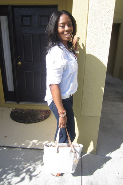 Forever 21 jeans - Old Navy shirt - Michael Kors bag - BCBG bracelet