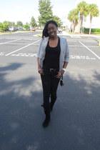 black Forever 21 jeans - Nine West bag - black Charlotte Russe top