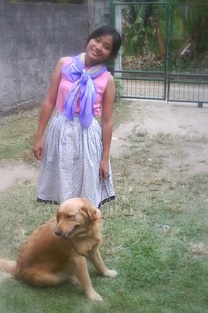 scarf - top - skirt
