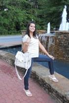 Express jeans - Target bag - Express top - Charlotte Russe wedges