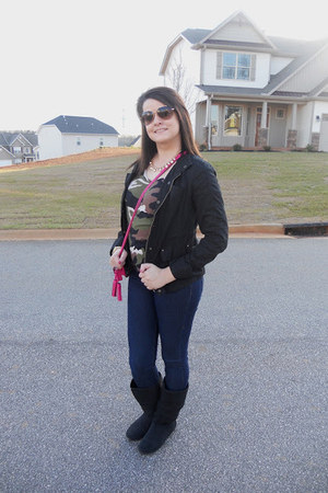 Rampage boots - Express jeans - Express jacket - Michael Kors sunglasses