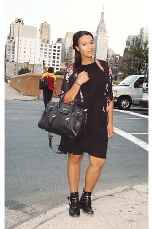 Target boots - H&M dress - Rebecca Minkoff bag - Target cardigan