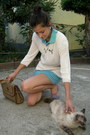 Cream-bluhmod-blouse-aquamarine-nuova-moda-skirt