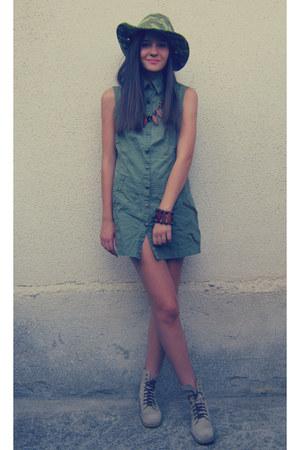 olive green Primark dress