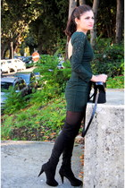 Zara dress - Mango boots - escada bag