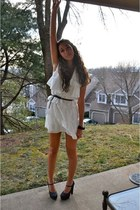 white bcbg max azria dress - black Urban Outfitters belt