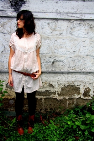 night market blouse - Previously Owned belt - night market stockings - night mar