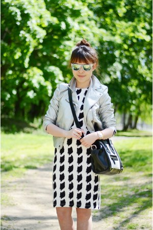 Karen Kane dress - urban1972 jacket - OASAP bag