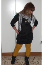 Zara sweater - Calzedonia tights - Ebay glasses - vintage from Ebay boots