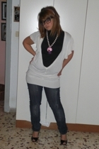 Sodini necklace - Extin blouse - Ebay glasses - Zara top