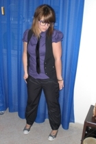 camaieu pants - Converse shoes - Zara shirt - Zoppini bracelet - Pimkie tie