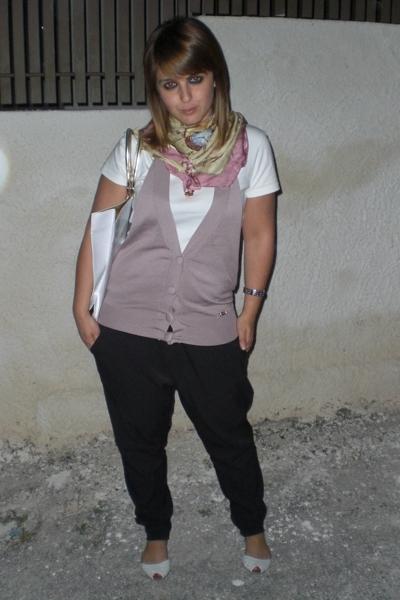 Zara pants - blugirl purse - Pure Oxygen blouse - Zara shoes - sash scarf