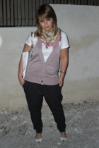 Zara pants - blugirl purse - Pure Oxygen blouse - Zara shoes - sash scarf