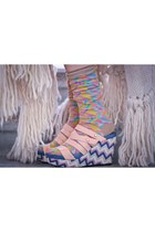 print socks Ayam socks - canvas print Musette wedges - Stefanel cape