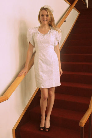 white vintage dress - white Forever21 accessories
