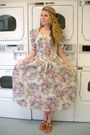 Off-white-floral-vintage-dress-navy-braided-hand-made-accessories