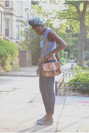 leather vintage bag - canvas Marais shoes - denim Forever 21 jeans