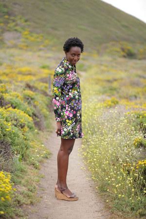 vintage from Ebay dress - JCrew wedges