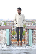 vintage shoes - vintage coat - Gap pants