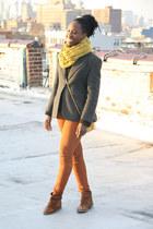Boutique 9 boots - Evan Picone blazer - H&M pants