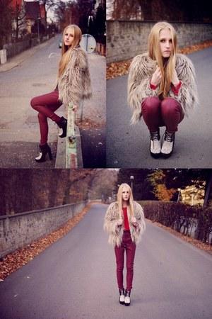 asos boots - Zara jacket - Topshop pants