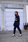 Maroon-beret-american-apparel-hat-navy-knit-old-navy-sweater