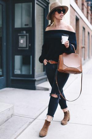 black skinny jeans Mavi jeans - black Revolve sweater