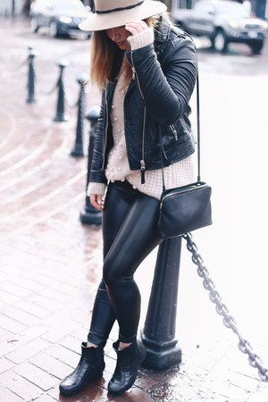 black leather jacket Aritzia jacket