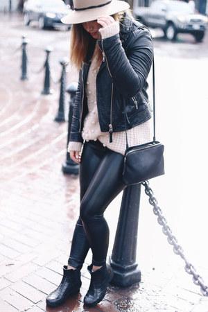 black leather jacket Aritzia jacket