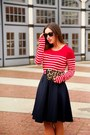 Red-striped-forever-21-shirt-tawny-leopard-print-club-monaco-bag