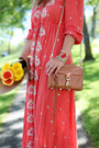 Red-bohemian-free-people-dress-brown-leather-rebecca-minkoff-bag