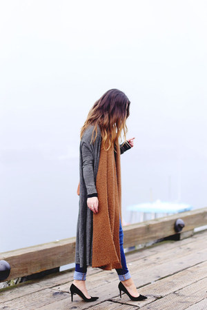 heather gray long cardigan free people sweater