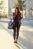 black 31 Phillip Lim bag - heather gray two-tone Jigsaw London blazer